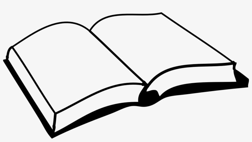 Open Book Black And White Clipart Open Book Clip Art 1979x1021