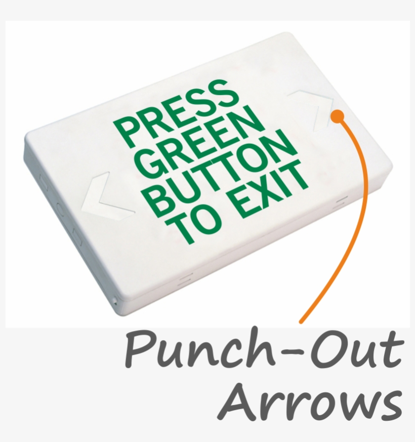 press green button to exit led with battery backup exit sign 800x800 png download pngkit pngkit