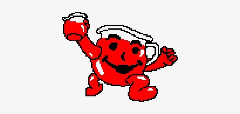 Kool Aid Man Pixel Art 960x640 Png Download Pngkit