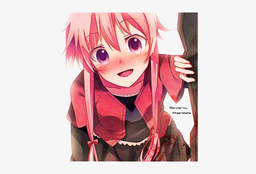 Gasai Yuno By Alfaandbeta D4j9uf9 Yuno Gasai Wallpaper Android 448x478 Png Download Pngkit
