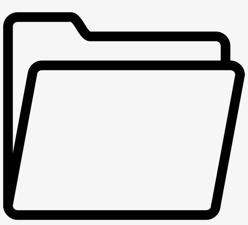 Folder Icon Png Transparent Black And White Folder Icon 1600x1600 Png Download Pngkit