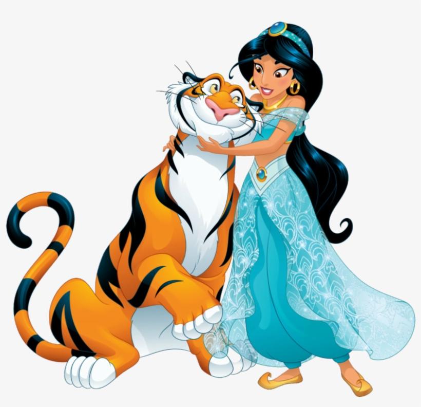 Aladdin Jasmine 8 Png Disney Jasmine And Rajah 832x766 Png