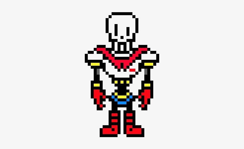 Papyrus - Disbelief Papyrus Pixel Art - 380x450 PNG Download - PNGkit