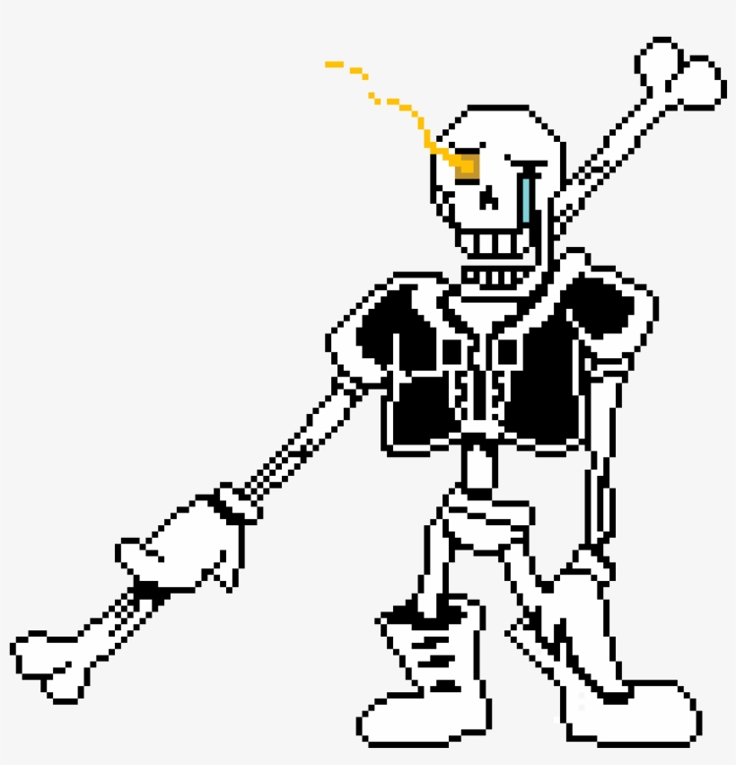 Pixilart - Disbelief Papyrus Phase 1 - 1120x1000 PNG Download - PNGkit