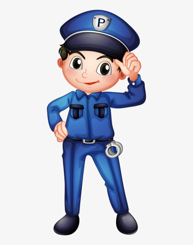 Kids Clipart Police Officer - Community Helpers Clip Art ...