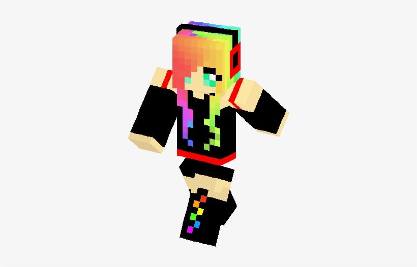 Emo Rainbow Girl Skin Minecraft Skin 317x453 Png