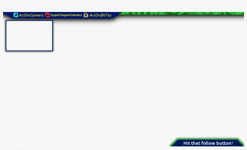 Overlay Template | Transparent Youtube Overlay Template 900x506 Png Download