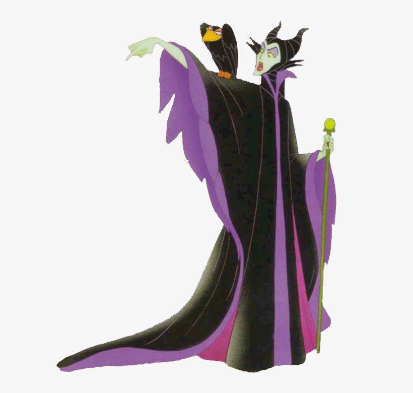 Maleficent & Diablo Point Clipart - Maleficent - 600x753 PNG