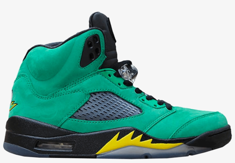 hot sale online 0f740 da652 Air Jordan 5  oregon Ducks  Sample - Goat, transparent png