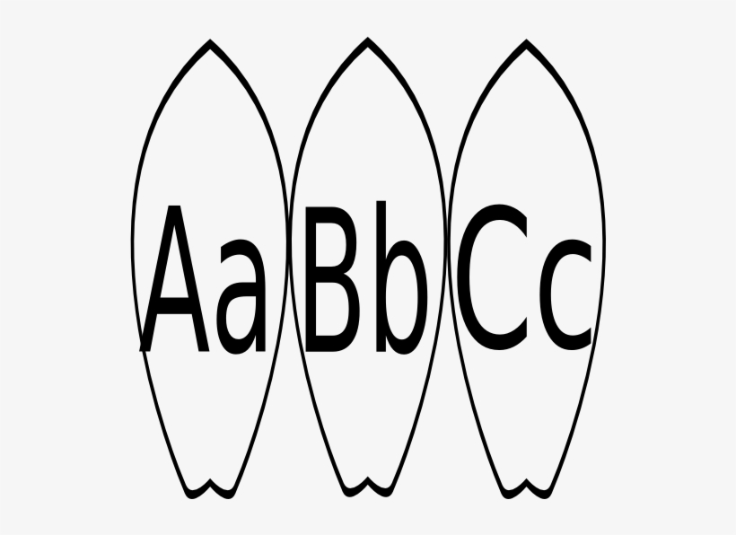 black and white library a b c word wall clip art surfboard printable coloring pages 600x515 png download pngkit black and white library a b c word wall
