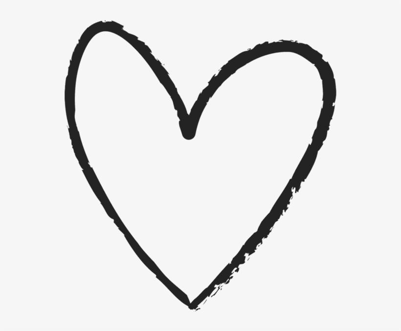 Love Hand Drawn Heart Symbol Outline - Hand Drawn Heart ...