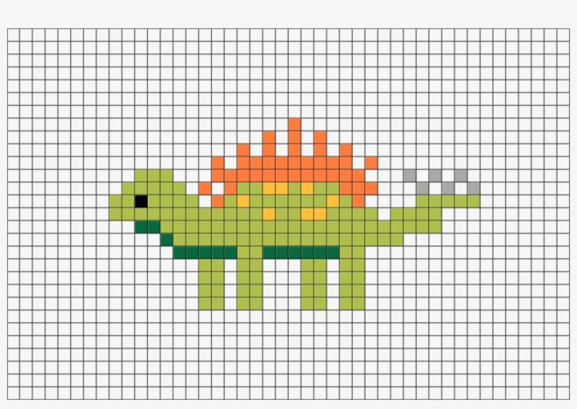 Lire Pixel Art Facile Dinosaure 880x581 Png Download