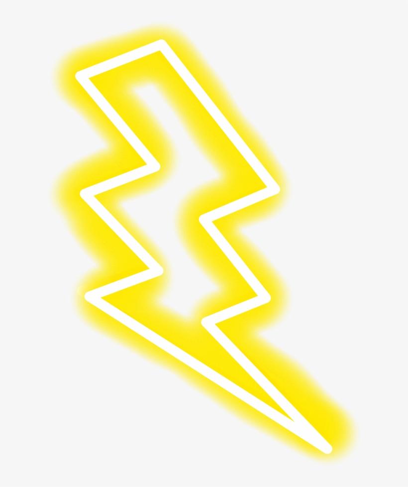 Neon Yellow White Lightning - Lightning Neon Png - 1024x1024