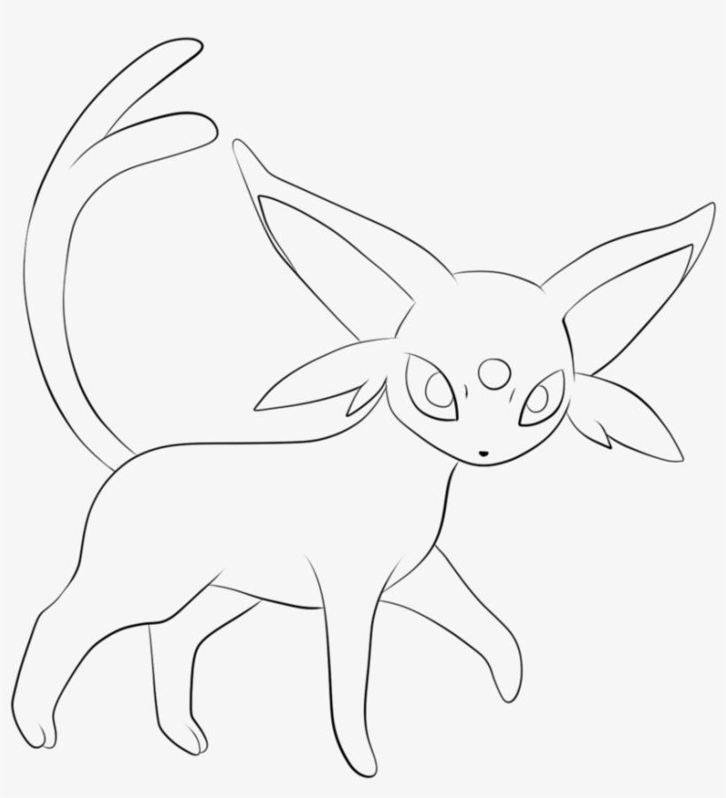 Umbreon Drawing At Getdrawings Pokemon Coloring Pages Eevee Evolutions Espeon 870x919 Png Download Pngkit