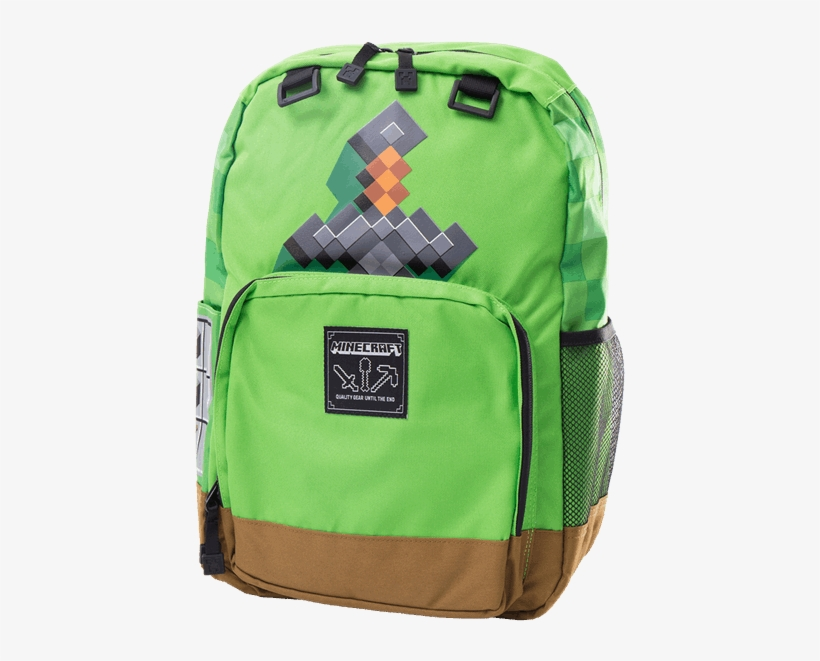 Green Minecraft Backpack 600x600 Png Download Pngkit