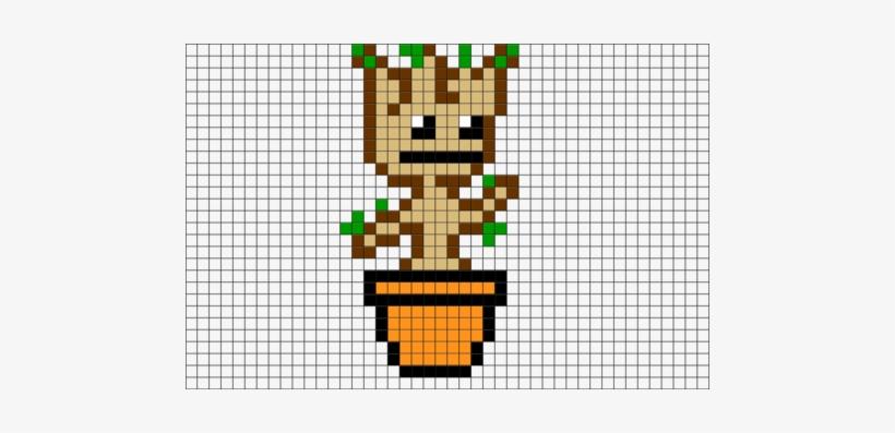 Dancing Baby Groot Pixel Art Baby Groot Pixel Art