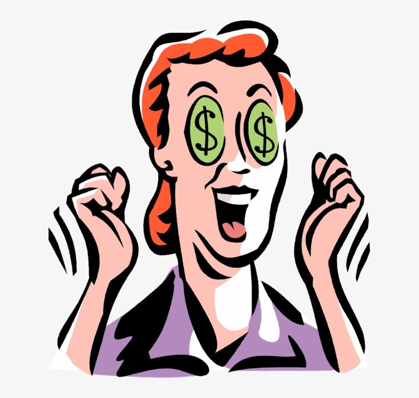 Entrepreneur With Dollar Signs In Eyes - Dollar Sign Eyes