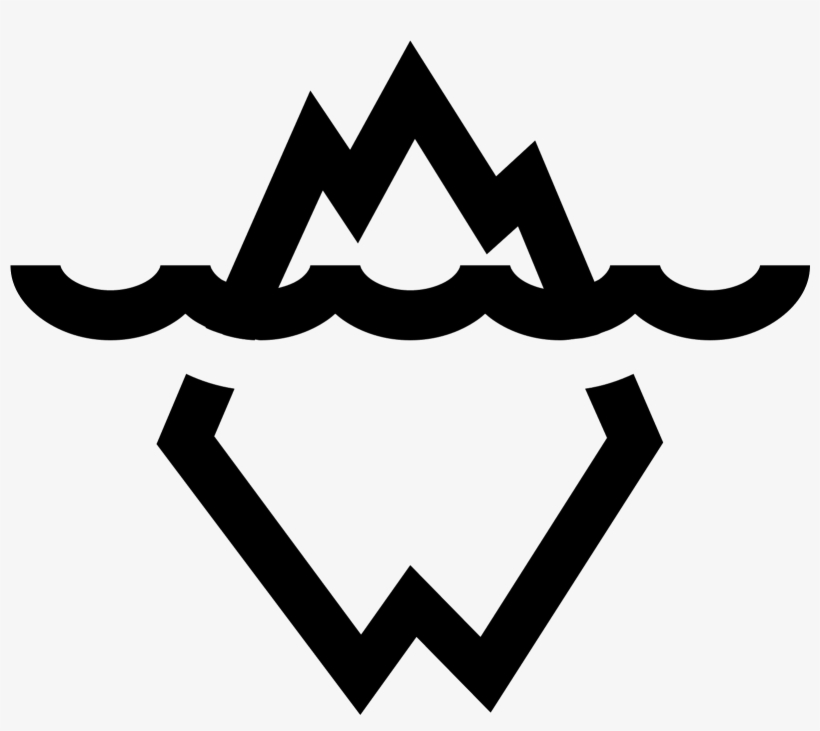 There Is A Wavy Line In The Middle Of This Object - Svg Iceberg Icon