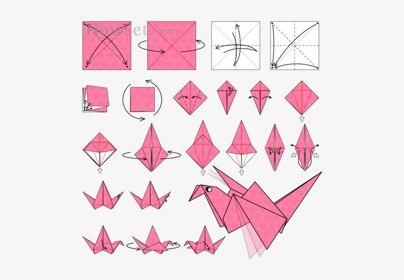 Origami Paper Crane | 569x820