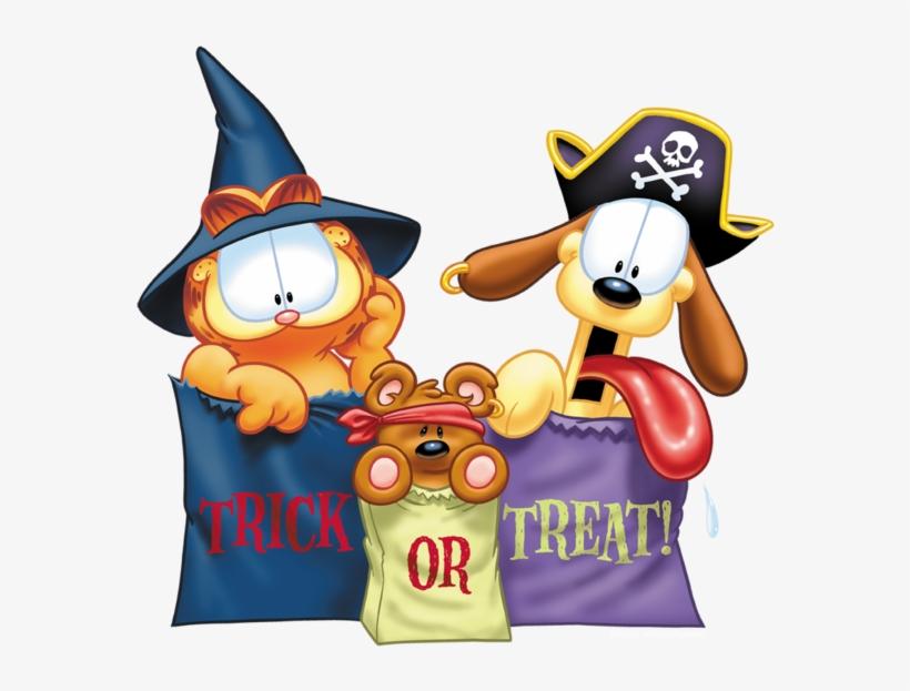 Garfield Grab Bags Men S Regular Fit T Shirt Garfield Trick Or Treat Throw Blanket 600x580 Png Download Pngkit
