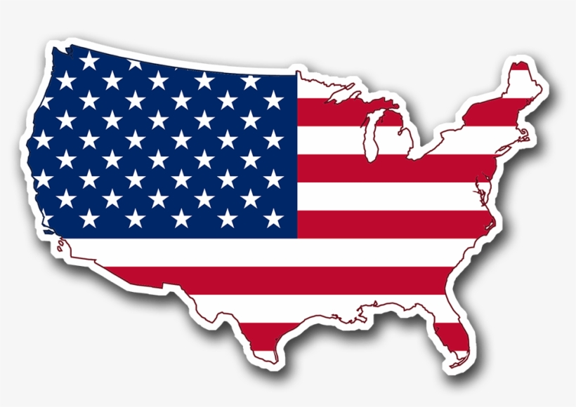 United States Map North America Map With Flag 1000x1000 Png Download Pngkit