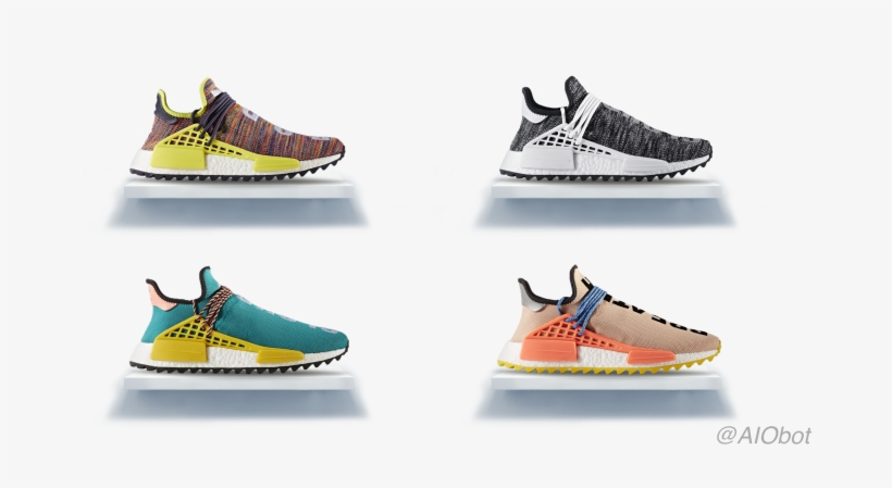 8c941feb1aa73 Pharrell X Adidas Nmd Hu Trail Human Race Ac7188 Sun - Hottest Nmd Human  Race Pharrell Williams Rainbow Multicolor