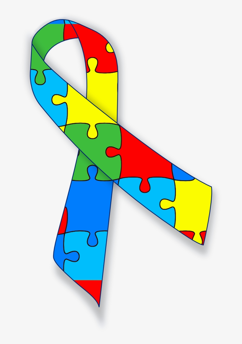 Blue Bow Clip Art Also Mental Health Awareness Ribbon Autism Ribbon Svg Free 688x1101 Png Download Pngkit