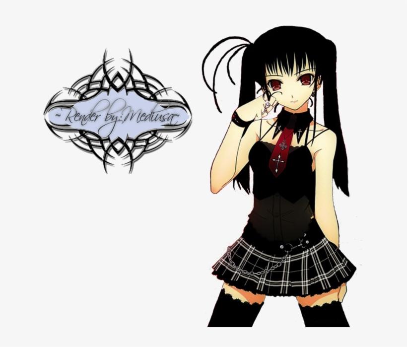 Emo anime girl 3 Ways