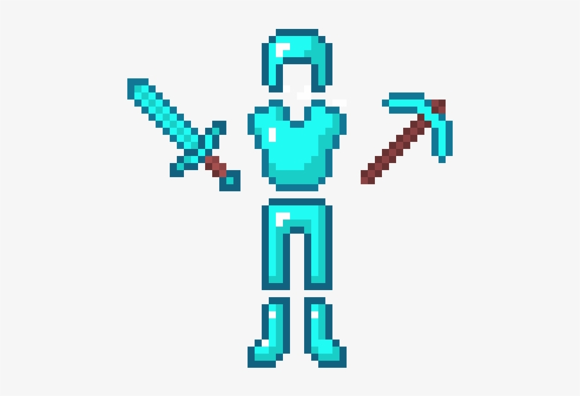 Minecraft Diamond Tools And Armor Diamond Armor And Tools 800x700 Png Download Pngkit