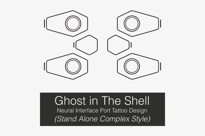 There Are A Bunch Of These Floating Around But They Re Ghost In The Shell Neck Tattoo 500x500 Png Download Pngkit