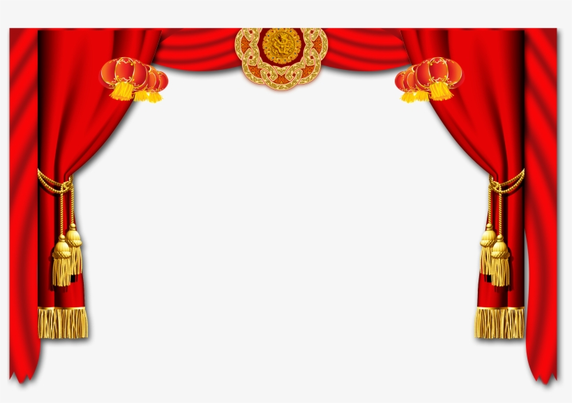 Red curtain border stock illustration. Illustration of color - 8796911
