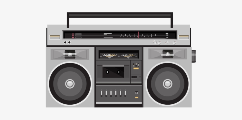 1980s Boombox Compact Cassette, painted radio, watercolor Painting,  electronics png | PNGEgg