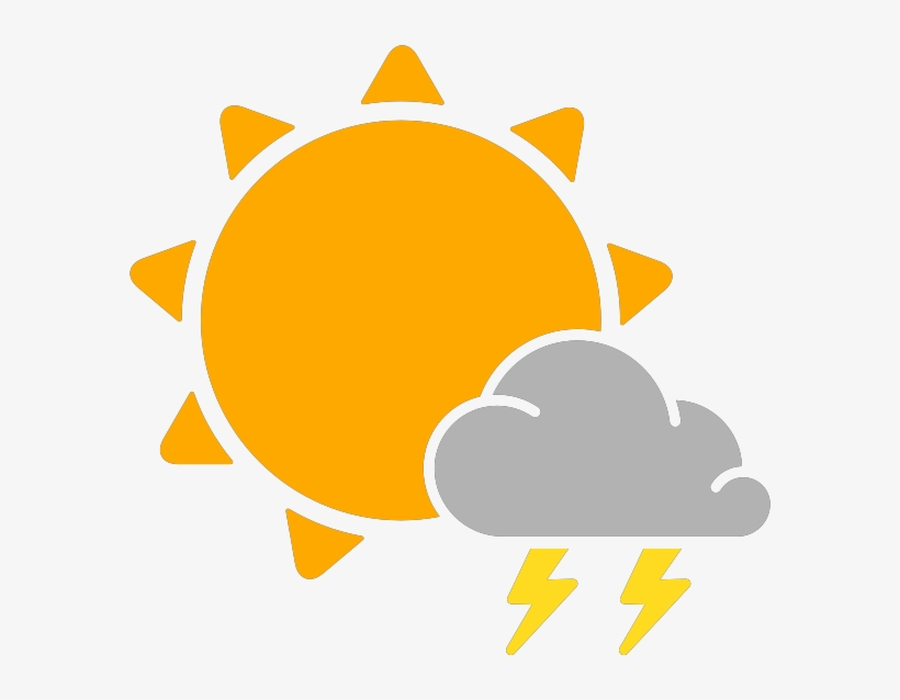 Simple Weather Icons Thunderstorms Svg Vector Public - Sun