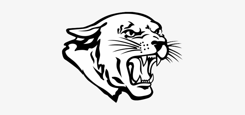 Panther Clipart | ... Clipart of a Coloring Page Outline of a Happy Panther  Character Mascot | Cat design, Free cartoons, Wild cats
