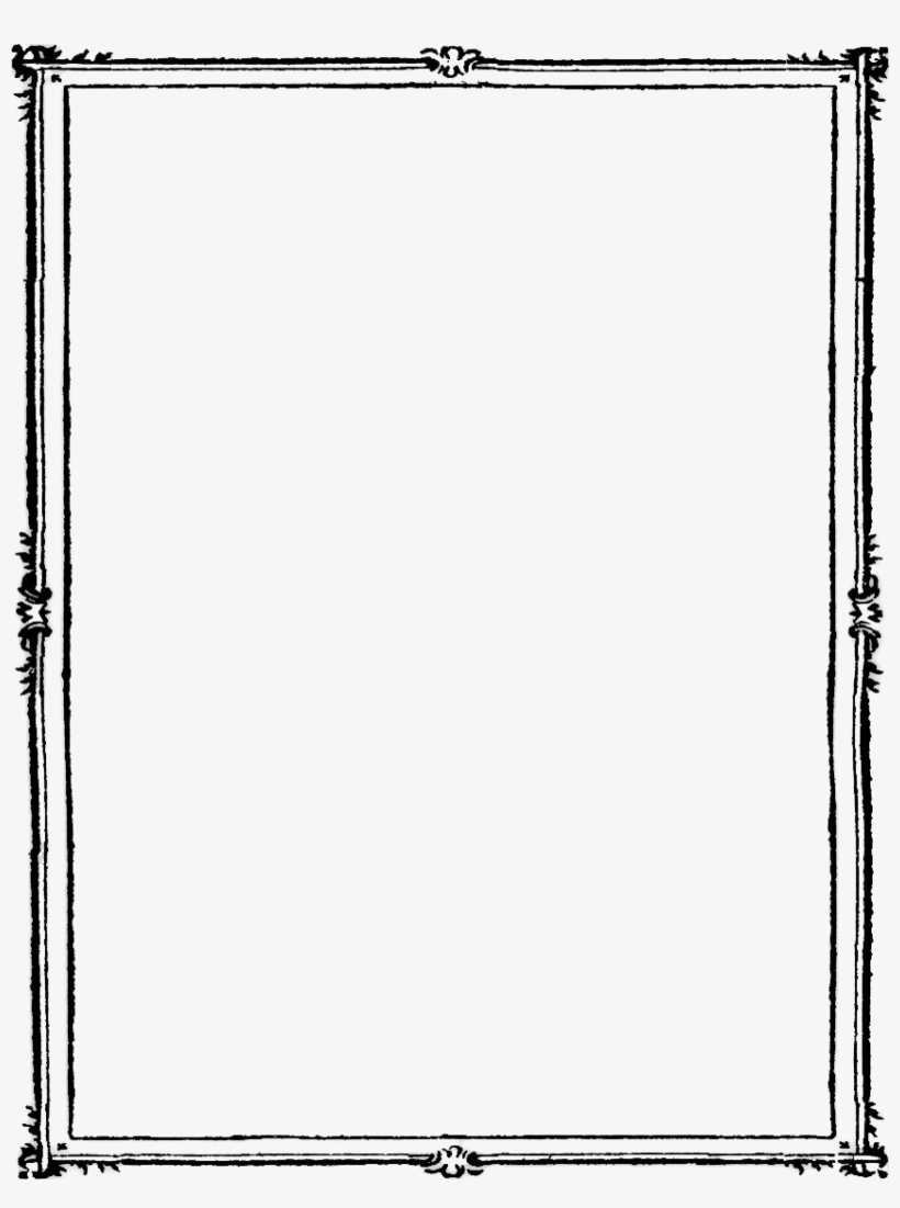 Black Border Frame Png Photos - Double Line Page Border
