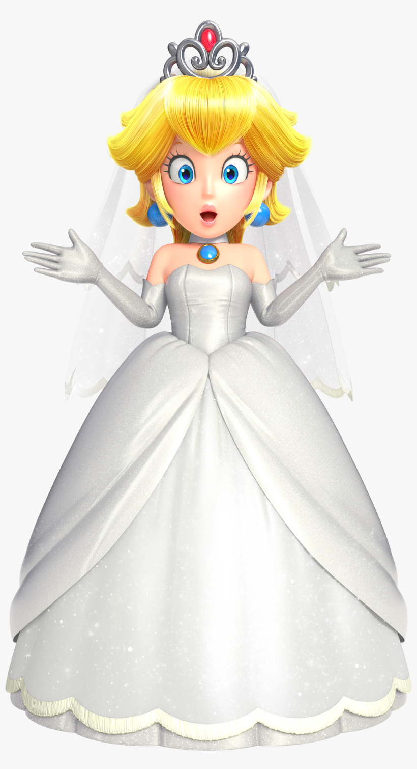 Wedding Peach Amiibo Super Mario Odyssey Peach Wedding Outfit 267x479 Png Download Pngkit