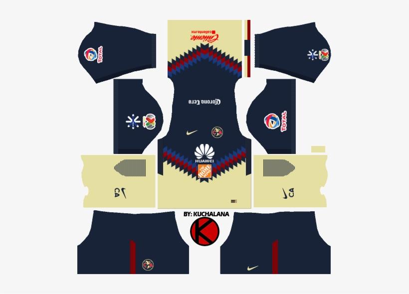 b5014275d Club América Kits 2017 2018 - Kit Dream League Soccer 2018 - 509x510 ...