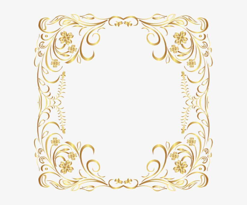 0c4fef52073d Deco Gold Border Frame Png Clip Art - Gold Borders And Frames ...
