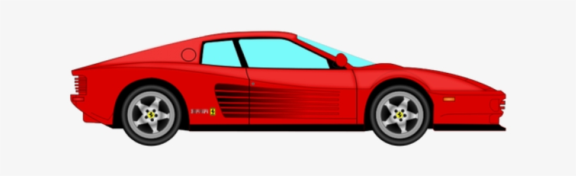 Delorean Clipart Svg Ferrari Cartoon Png 500x386 Png Download Pngkit