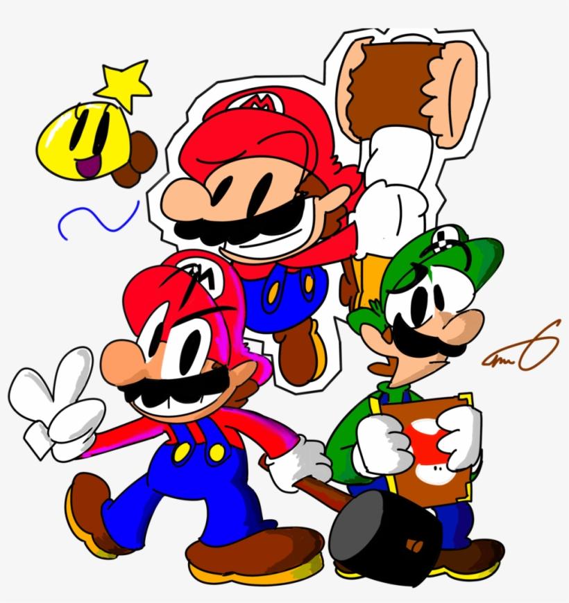 Luigi Clipart Paper Mario Mario And Luigi Paper Jam