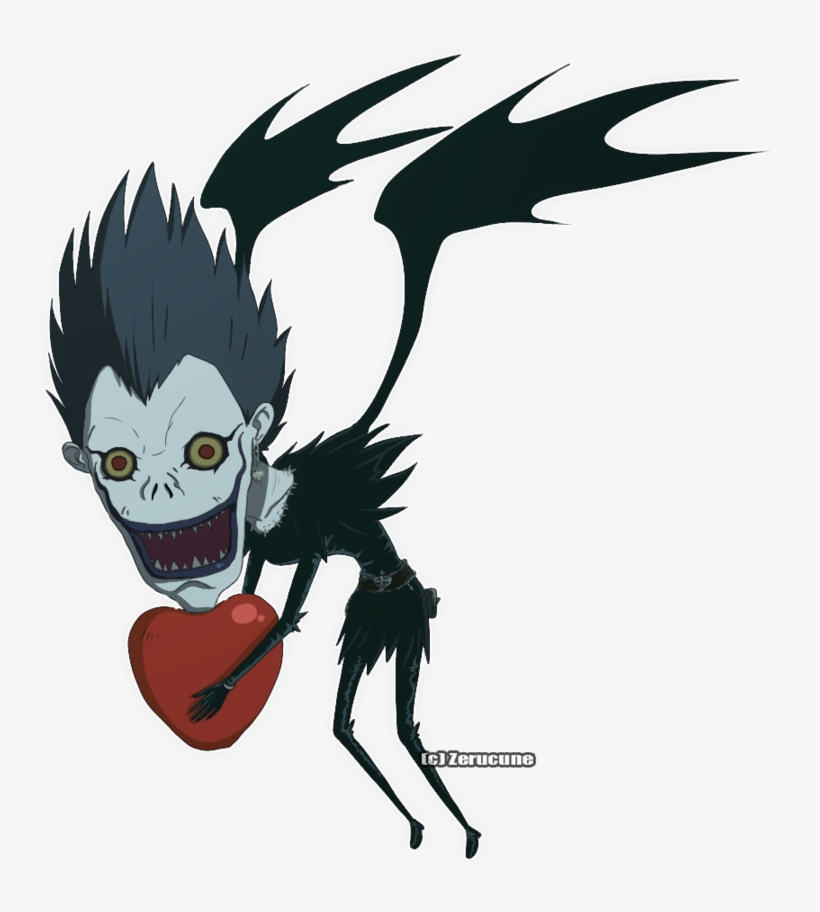 Svg Royalty Free Download Chibi By Zerucune On Deviantart Death Note Ryuk Chibi 900x1080 Png Download Pngkit