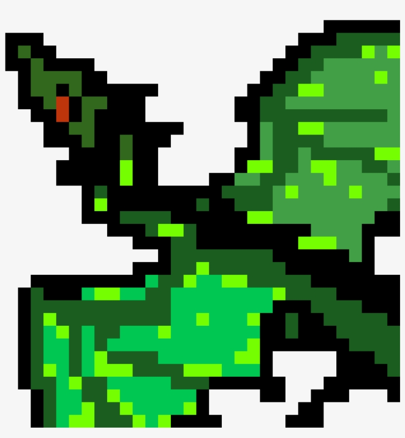 Smog Dragon Dragon Pixel Art Grid 1184x1184 Png Download Pngkit