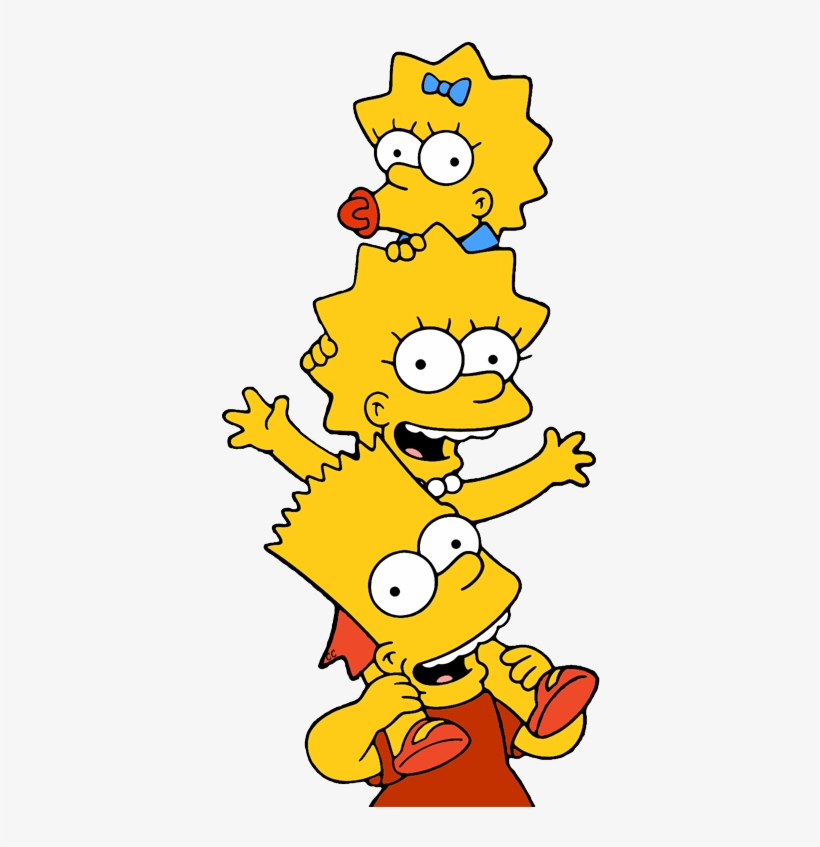 Marge Simpson Clipart Com Free For Personal Use Bart Lisa And Maggie Simpson 388x767 Png Download Pngkit