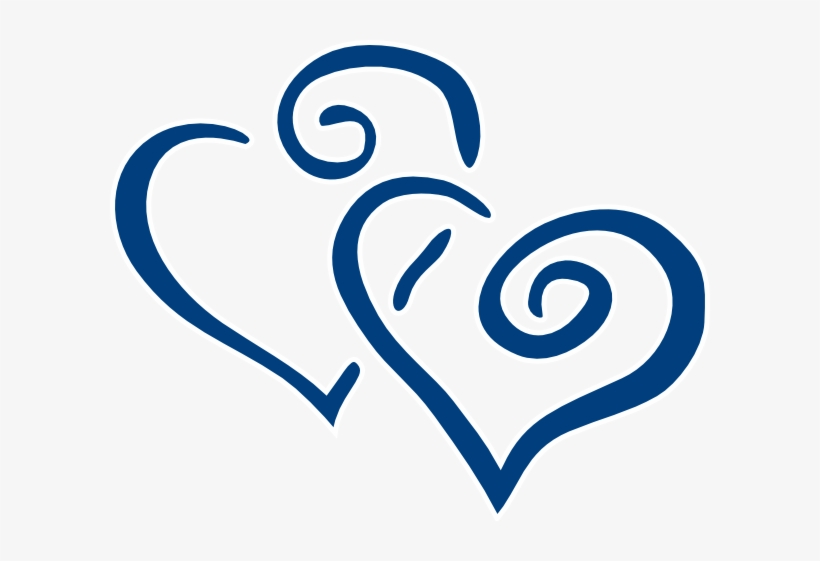 Blue - Heart - Clipart - Navy Wedding Clip Art - 600x481 ...