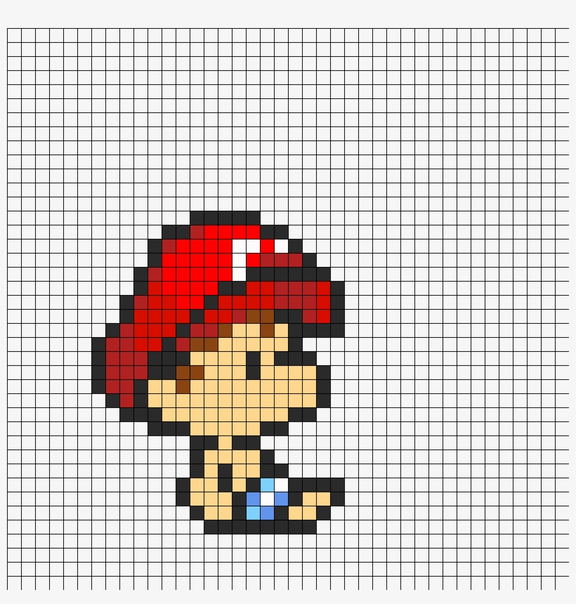 Baby Mario Perler Bead Pattern Pixel Art Mario 840x840