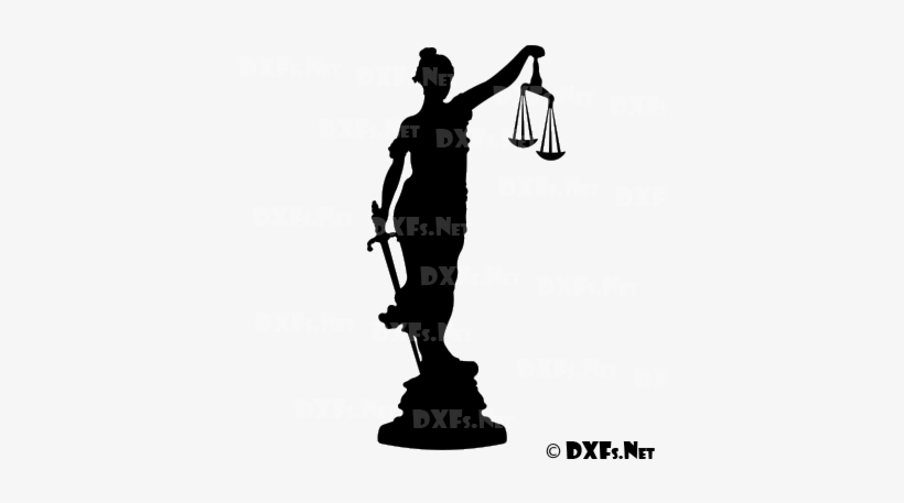 Lady Justice Silhouette Cnc Dxf File Download - Lady Justice
