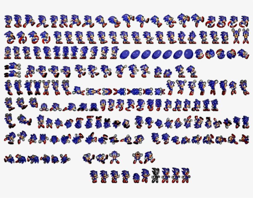 The Hedgehog Sprites Rendered Sonic The Hedgehog Sprites Png