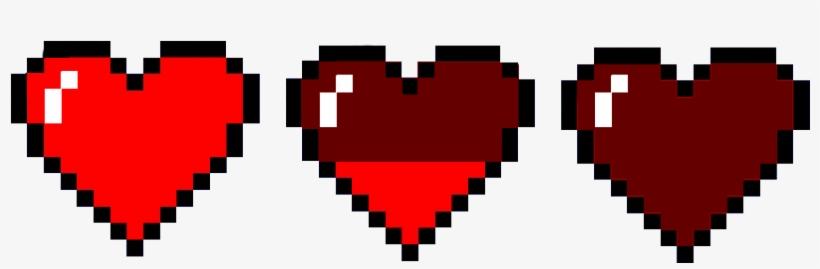 Heart Pixel Png Pixel Heart 901x300 Png Download Pngkit