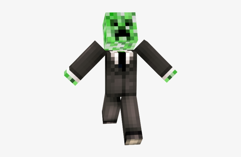 Minecraft Minecraft Creeper In A Suit Skin Minecraft Skins Mobs In Suits 385x466 Png Download Pngkit