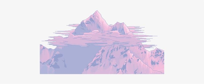 Vaporwave Seapunk Lofihiphop Mountains Vaporwaveaesthet - Aesthetic